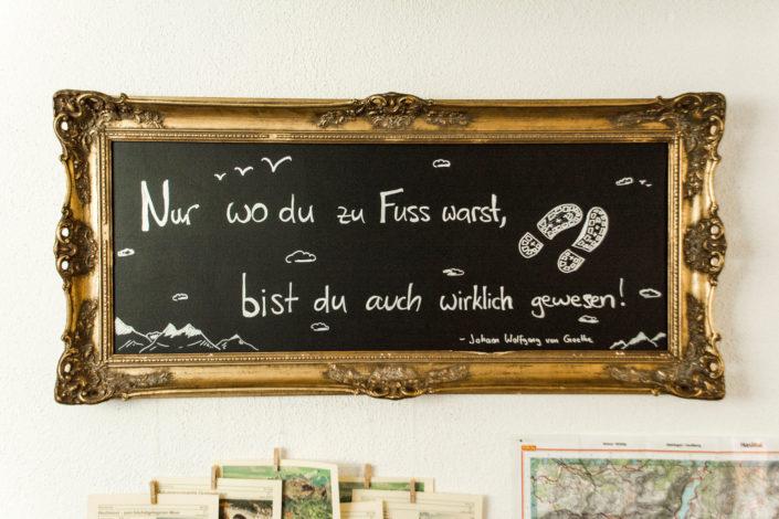 Reception, Wanderecke, Hasliberg, Hotel Gletscherblick