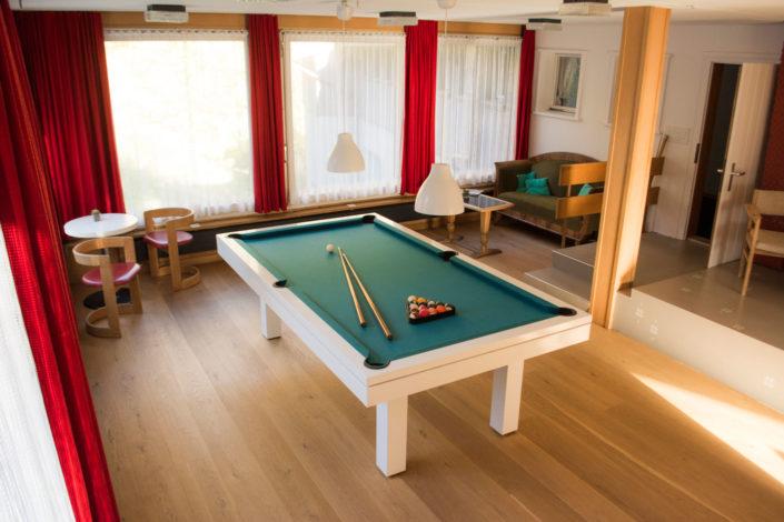Billardraum, Hotel Gletscherblick