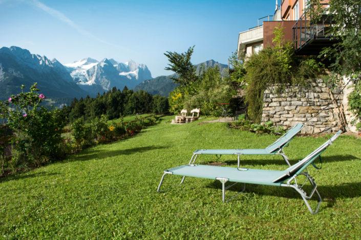 Garten, Panorama, Bergsicht, Aussicht, Erholung in der Natur, Hasliberg, Hotel Gletscherblick