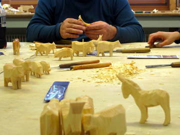 Kurs Holzschnitzen Bauernhoftiere