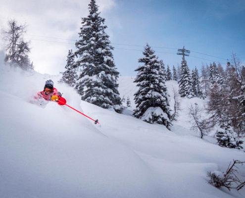 Freeriden, powder, skiing, skifahren am Hasliberg | Hotel Gletscherblick